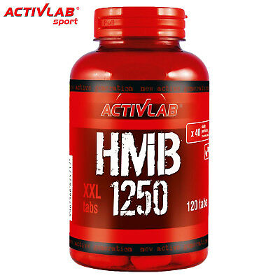 HMB 1250 120 Tablets Anti Catabolic Anabolic Ripped Muscle Mass Builder Slimming