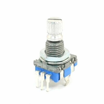 6mm Knurled Shaft 20 Position 360 Degree Rotary Encoder w Push Button Switch