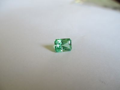 1.39ct Loose Emerald Cut Green Quartz Gemstone 7 x 5mm