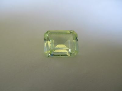 3.45ct Loose Emerald Cut Light Green Quartz Gemstone 10 x 8mm