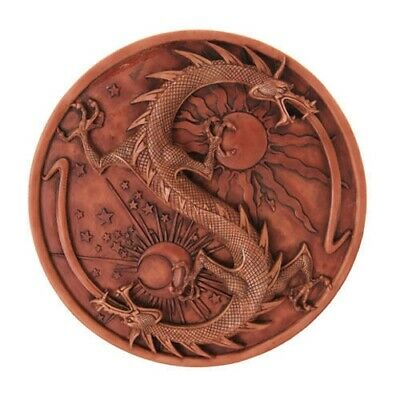 Sun and Moon Ying Yang Dragon Wall Plaque Statue Maxine Miller Collectible Decor