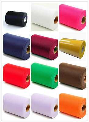 """ACS 6 TULLE Roll Spool 2""""x25yd Tutu Wedding Gift Craft Party Bow 12 Colours Pick"""