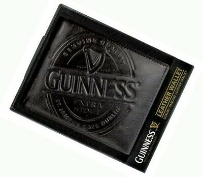 Guinness Label Leather Wallet Black