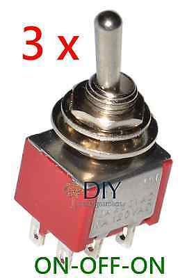 3 x DPDT ON-OFF-ON toggle switch - switch a levetta pedal clone DIY