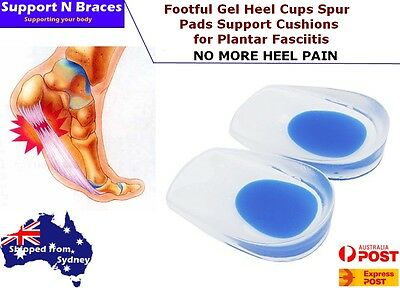 Heel Pain Fast Gel Plantar Fasciitis Spur Pad Cup Insole Support