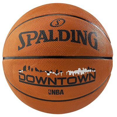 Spalding Downtown Outdoor Basketball Size 7 Adult Tan Basket Ball Rubber Train s
