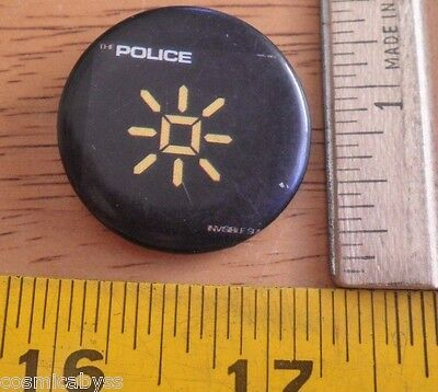 The Police Invisible Sun Roxanne Music Limit 1983 button