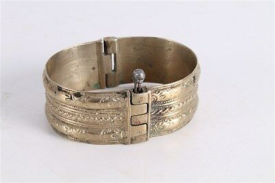 Antique Authentic Hand Made Stunning Silver Woman Bangle Bracelet.
