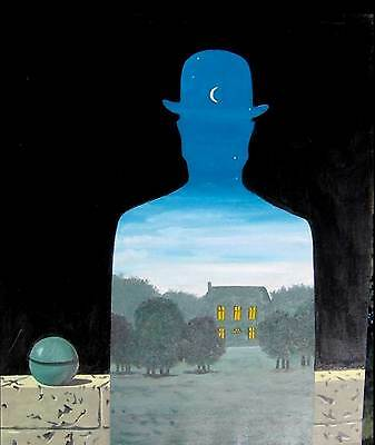 Magritte # 30 cm.50X70 Stampa Arte su Tela Canvas, papiarte,