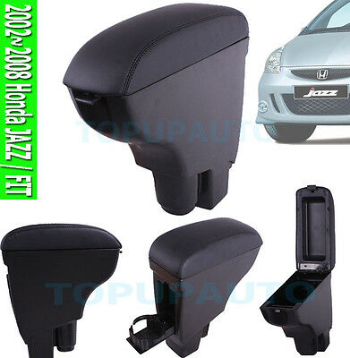 Fit For 02~2008 Honda Jazz Leather Armrest Centre Console Storage Box 2006 2007