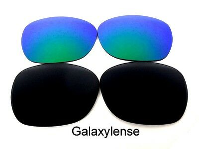 b832d322e6 Galaxy Replacement Lenses For Oakley Garage Rock Black Green Polarized 2  Pairs