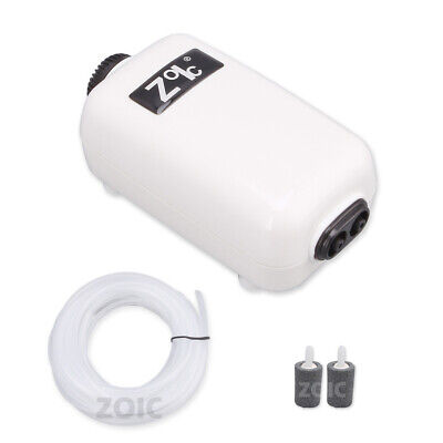 OZ Fish Tank Aquarium Oxygenation Air Water Pump 220-240V Super Silent 2 Outlets