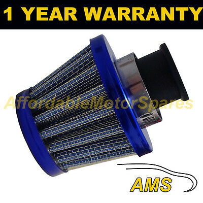 12mm MINI AIR OIL CRANK CASE BREATHER FILTER FITS MOST CARS BLUE CONE