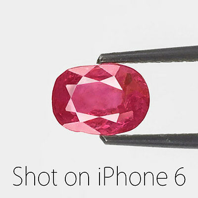 1.83-Carat IGI-Certified Natural & Untreated Oval-Cut Ruby from Mokok