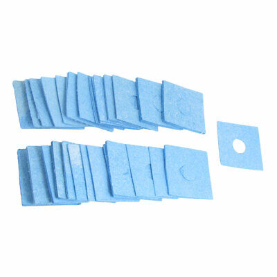 Solder Stand Station Soldering Iron Cleaning Sponge Blue 50 Pcs
