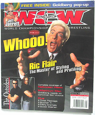 Wcw / Wwe  Magazine / Issue 56 / Dec 1999 / Ric Flair With Goldberg Popup