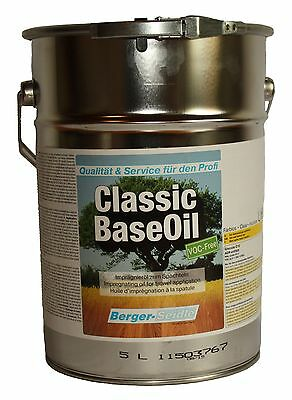 Berger-Seidle Classic Base Oil, Tiefenimprägnierung, farblos, 5 Liter