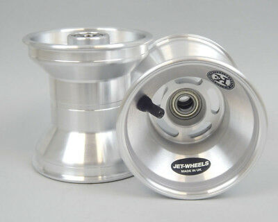 Jet Wheel Front Silver 130mm  x 1 UK KART STORE