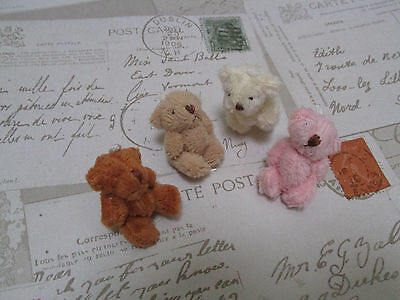 Mini Soft Traditional Teddy Bear 4.5cm Party Bags/Gift/Wedding Favor/Baby Shower