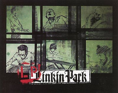 LINKIN PARK 2004 Meteora promo Sticker Card!!! Projekt Revolution