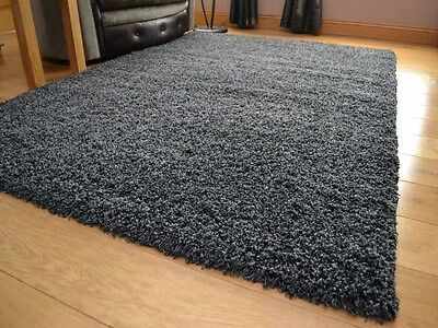 Charcoal Grey Small Extra Large 5cm Soft Thick Pile Plain Shaggy Long Runner Rug