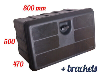 LAGO 800x500x470 TOOL BOX with MOUNTING BRACKETS Truck Storage Box / Lorry / Bus