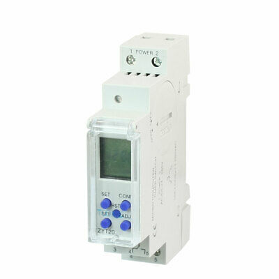 Mini ZYT20 LCD Digital Programmable Countdown Timer Control Switch 10A