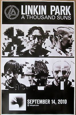 Linkin Park - A THOUSAND SUNS - Double-Sided Promo Poster [2010] - NM