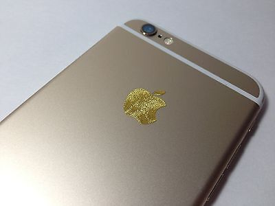 Crushed Gold 24K Apple iPhone Sticker Vinyl Decal Logo Skin 4S 5 5C 5S 6S Plus 7