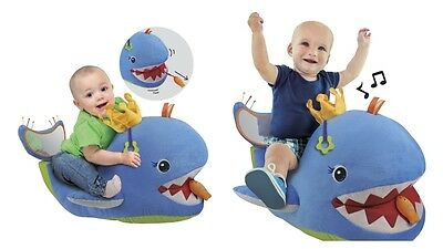 K's Kids Big Blue Whale Soft Toy Engaging your Baby's Gross Motor Skills