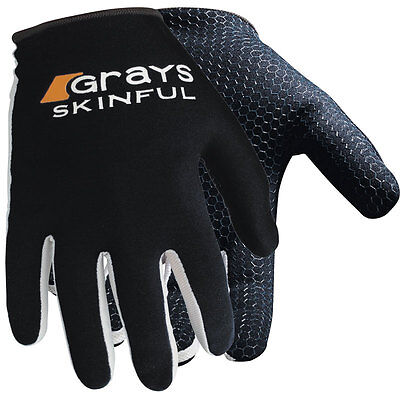 031739 SPORTS DEAL Grays Skinful Lightweight Hockey Gloves 66524 - Black