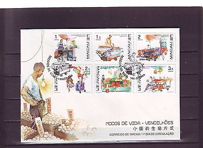 Macao/macau - Sg1023-1028 Street Traders 13/2/98 First Day Cover - Fdc