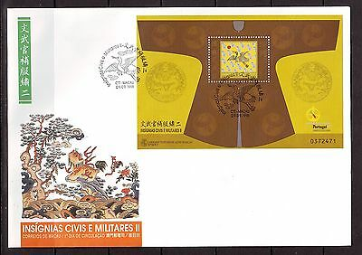 MACAO/MACAU - SGMS1065 INSIGNIA  MANDARINS 2nd SERIES 9/9/98 FIRST DAY COVER FDC