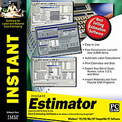 IMSI Instant Estimator  Cost Estimating Software  Tools for Cost Projections NEW