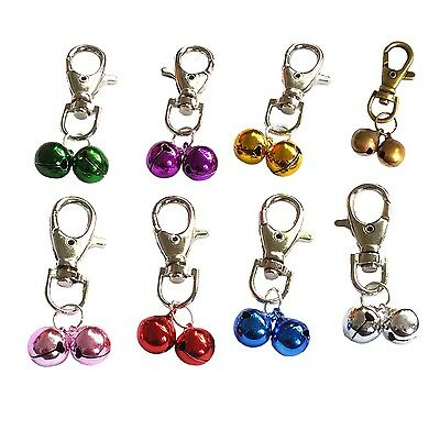 Pet Metal Charms Jingle Bells with Clips Dog Cat Puppy Charms  Necklace Collars