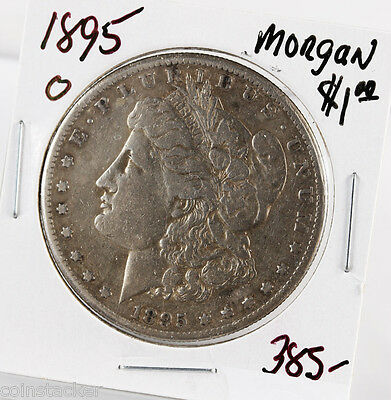 Raw 1895-O Morgan S$1 Uncertified Ungraded New Orleans Circ Silver Dollar Coin