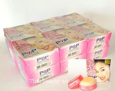 12 x POP POPULAR Skin Whitening Freckle Dark Spots Thai Facial Cream 4g./0.14oz.