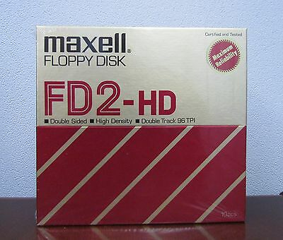 "Floppy Disk 8"" 256K Double Sided FD2-HD Maxell Floppy Disks in a 10pk(C0-800UBM)"