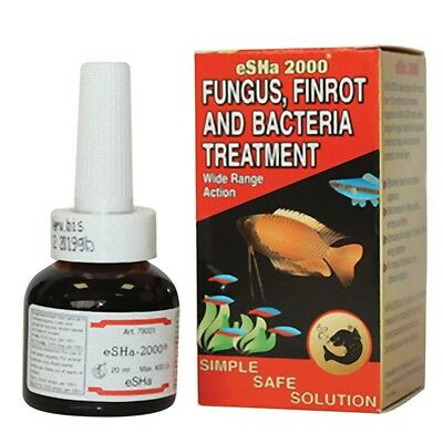 Esha 2000 Fungus Finrot & Bacteria Fish Treatment for aquariums 20ml 180ml 500ml