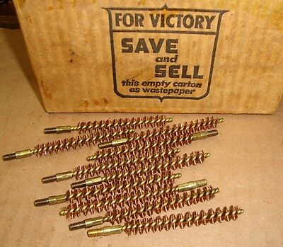 10ea .30 Cal Unissued WW2 USGI Brass Bore Cleaning Brushes for M1 Garand 1903