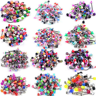 105 pcs Wholesale Lot Tongue Nipple Rings Body Jewelry Tounge FREE SHIPPING