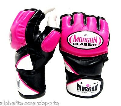 Morgan Womens MMA Gloves Boxing Muay Thai UFC Mitts Bag Sparring Cross Training