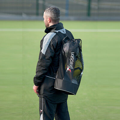 Precision Training Tubular Ball Bag With Shoulder Strap Holds 3 Footballs rrp£14