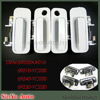 Outside Door Handle White Front Right Rear Left For Toyota CAMRY Set 1997-2001