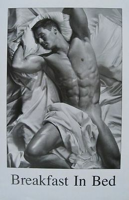 Breakfast In Bed Pinup (LAMINATED) POSTER (58x88cm) Man Sleeping New Licensed
