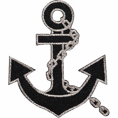 Ship Boat Anchor Embroidered Iron Sew On Patch Sailor Fancy Dress Hat Bag Badge