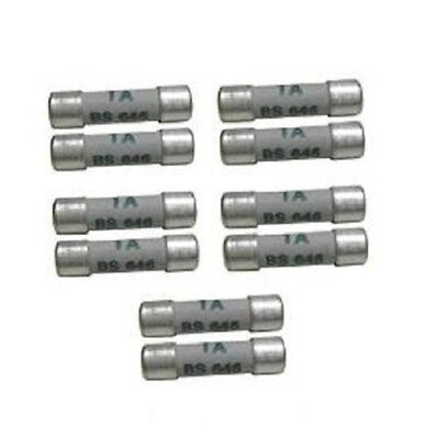 Shaver Plug Fuses Bs646  1 Amp- Pack Of 10