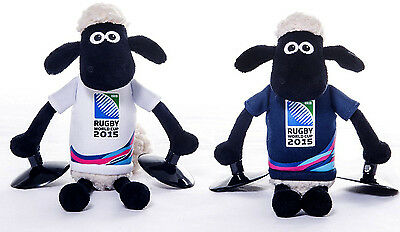 102869 SPORTS DEAL Shaun The Sheep Official RWC 2015 Window Stick-On Toy - 23cm