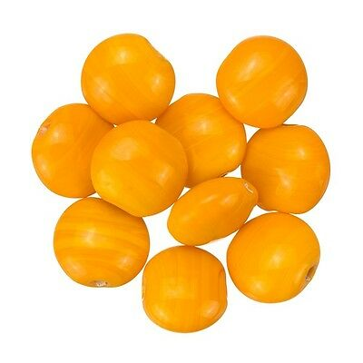 Shiny Smartie Dark Orange Disc Glass Beads 12x6mm Pack of 10 A88//1