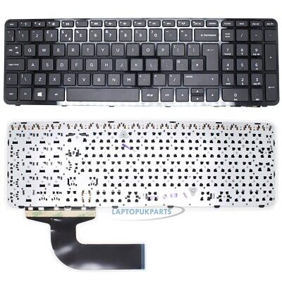 New For HP 15-G092SA Notebook English Keyboard UK Black Layout with Frame